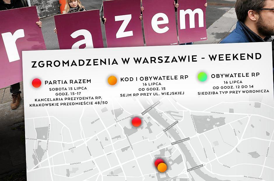 Protesty w Warszawie