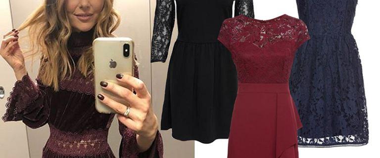 Paulina Sykut w aksamitnej sukience zdobionej koronką! Znamy jej cenę i znalazłyśmy dużo tańsze modele