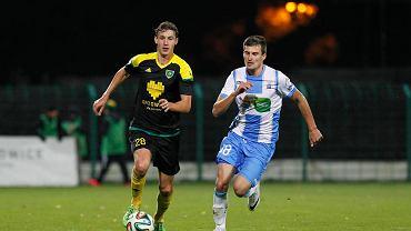 Rafał Kujawa w meczu GKS - Stomil