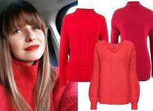 Anna Lewandowska w cudownym czerwonym swetrze! W tym sezonie gwiazdy kochają ten kolor