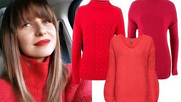 czerwone swetry damskie / mat. partnera