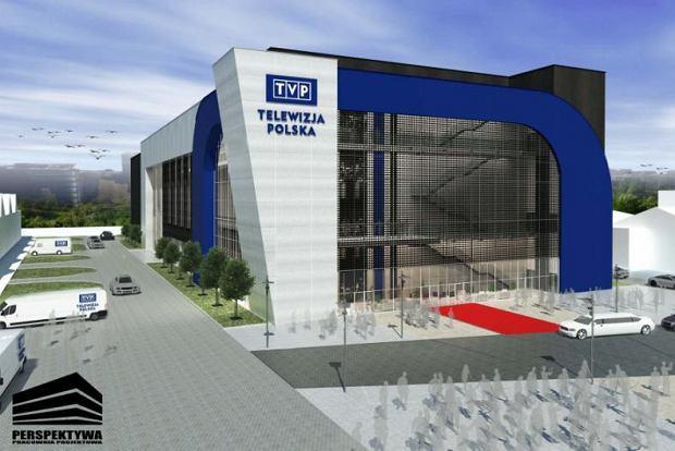 Wizualizacja nowego budynku dla TVP