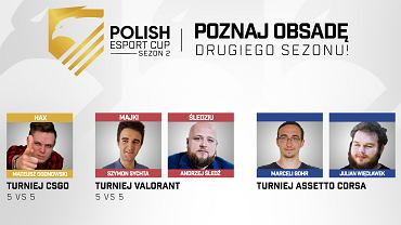 Komentatorzy drugiego sezonu Polish Esport Cup.