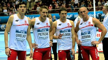 Rafał Omelko, Michał Pietrzak, Kacper Kozłowski i Jakub Krzewina