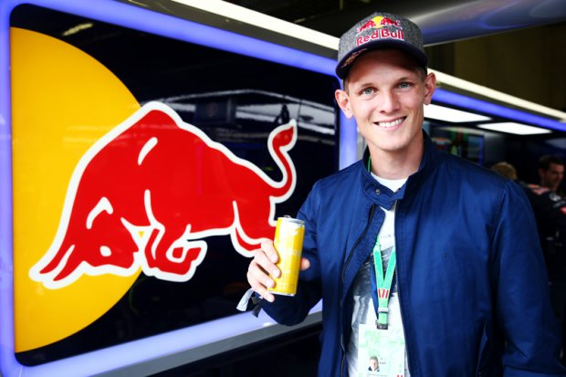 SPIELBERG, AUSTRIA - JUNE 21:  Thomas Morgenstern poses in the Infiniti Red Bull Racing garage during final practice ahead of the Austrian Formula One Grand Prix at Red Bull Ring on June 21, 2014 in Spielberg, Austria.  (Photo by Mark Thompson/Getty Images) *** Local Caption *** Thomas Morgenstern
