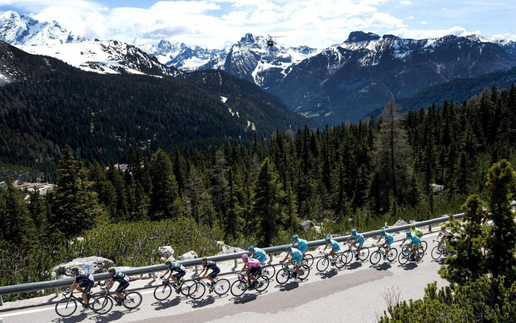 Kolarze na trasie Giro d'Italia