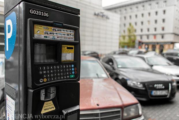 Парковочный счетчик в Варшаве