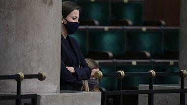 22.10.2020, Zuzanna Rudzińska-Bluszcz podczas głosowania nad jej powołaniem na stanowisko Rzecznika Praw Obywatelskich
