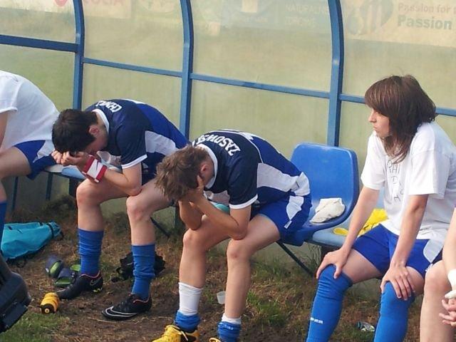 Piłkarki SMS Łódź po przegranym meczu o awans