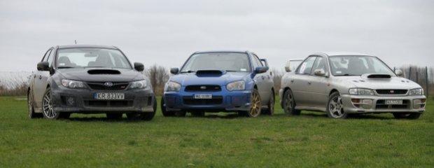 Subaru Impreza WRX STI x 3 | Test | 20 lat ikony