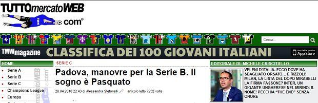 Padova Calcio zainteresowana Cristianem Pasquato