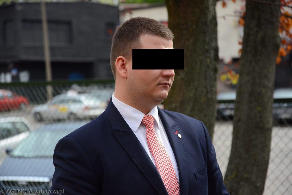Bartłomiej M., były rzecznik MON. Na zdjęciu - podczas uroczystości podpisania koncepcji tworzenia obrony narodowej. Warszawa, 25 czerwca 2016