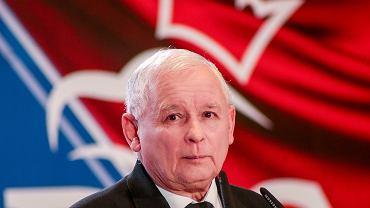 Prezes PiS Jarosław Kaczyński podczas konwencji swojej partii. Bydgoszcz, 30 września 2018