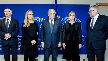 Rodzina Pawła Adamowicza z wizytą w Brukseli