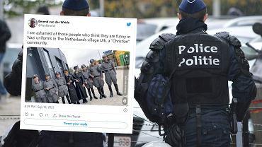 Holandia. Kilku młodych mężczyzn przebrało się w nazistowskie mundury