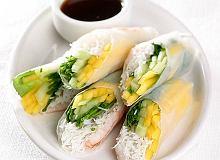 Spring rolls z mango i krewetkami - ugotuj