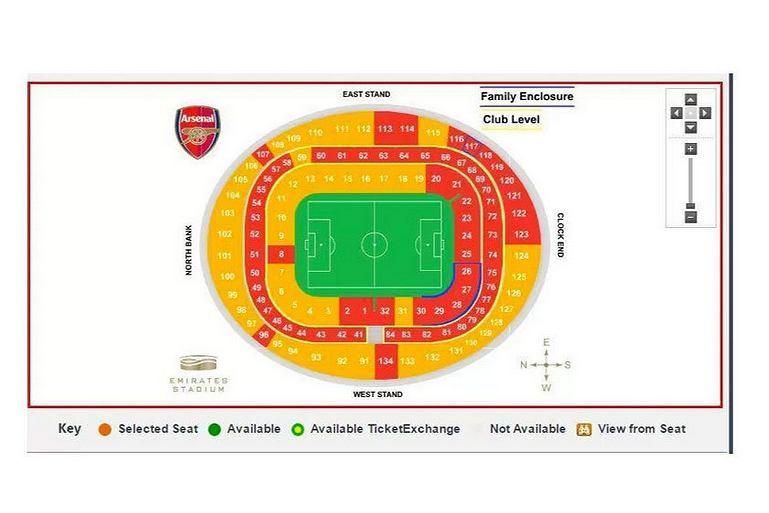 Zapełnienie trybun Arsenalu 6