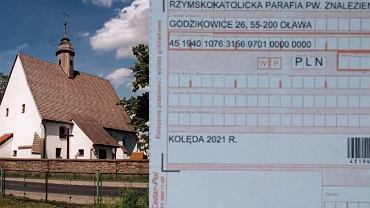 Parafia Znalezienia Krzyża Świętego w Godzikowicach i druk przelewu od proboszcza
