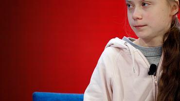 Greta Thunberg podczas World Economic Forum, Davos, 21 stycznia 2020