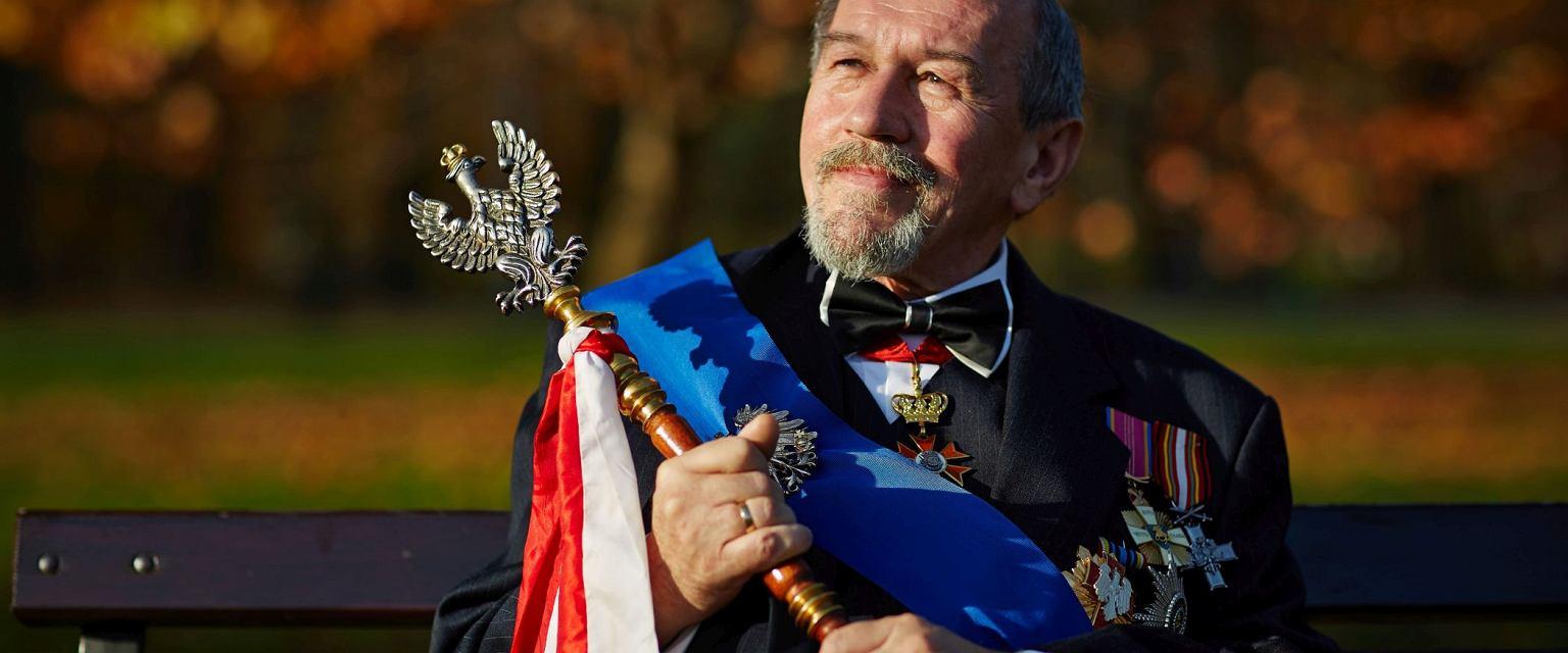 Leszek Wielki Książę Wierzchowski wierzy, że monarchia zostanie w Polsce przywrócona (fot. Bartek Barczyk)