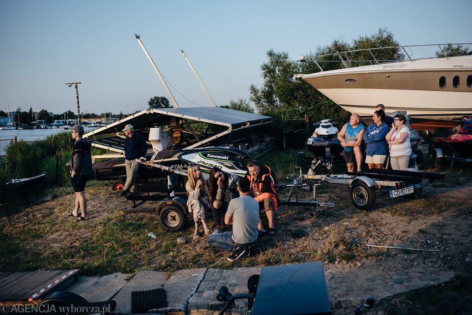 Zdjęcie numer 10 w galerii - Niepełnosprawny przepłynął skuterem wodnym z Warszawy do Gdańska