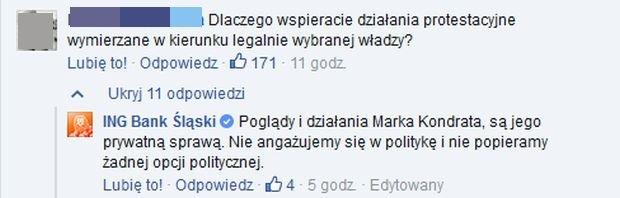Internauci komentują udział Marka Kondrata w marszu KOD