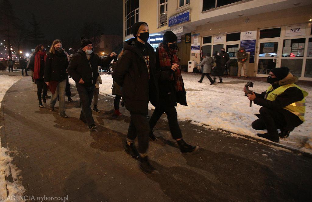 Strajk Kobiet - protest w Łodzi