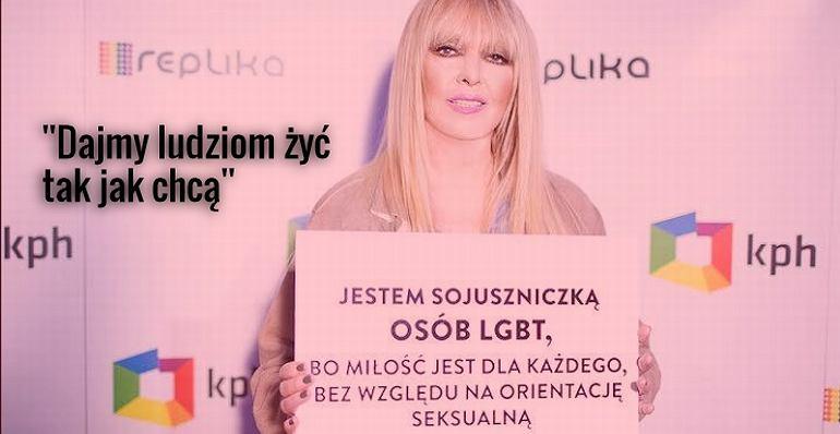 Maryla Rodowicz dołączyła do akcji Kampanii Przeciw Homofobii