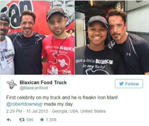 Robert Downey Jr. złożył niespodziewaną wizytę właścicielowi food trucka