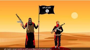 """Fragment kreskówki """"Przeciętny Mohamed"""""""