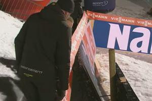 Koszmarny wypadek na skoczni w Lillehammer. Przebita banda... [WIDEO]