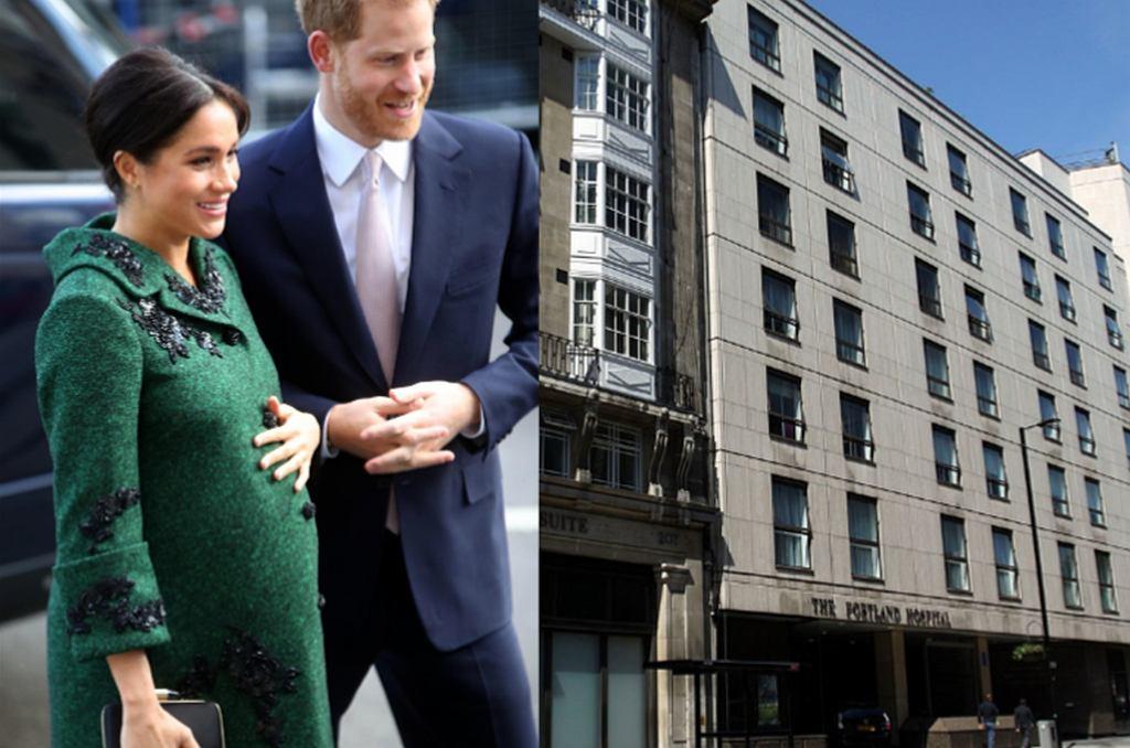 Meghan Markle i książę Harry, Portland Hospital w Londynie