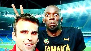 Usain Bolt żartuje z dziennikarza