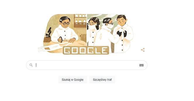 Dr Wu Lien-teh, czyli wynalazca maseczki chirurgicznej w Google Doodle.