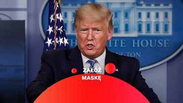 Donald Trump wezwał Amerykanów do noszenia maseczek