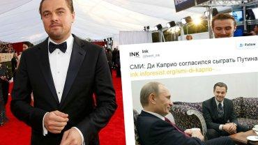 Leonardo DiCaprio na rozdaniu nagród SAG i z Władimirem Putinem