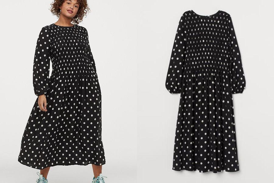 czarna sukienka HM