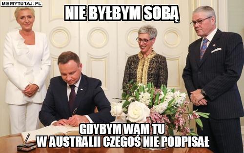 Andrzej Duda w Australii - memy