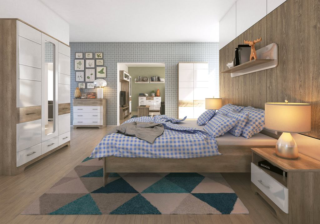 Przytulna sypialnia z praktycznymi meblami