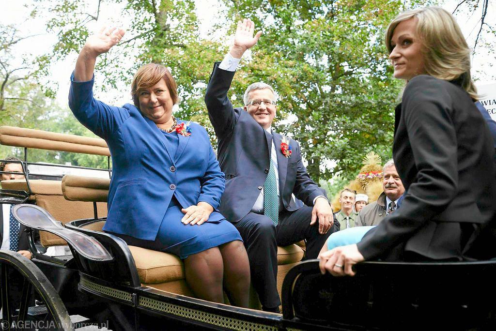 Para prezydencka w czasie dożynek w Spale