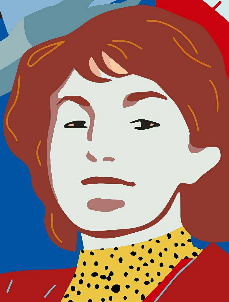 Danuta Kędzierska-Sadowska, fragment muralu 'Kobiety Wolności'