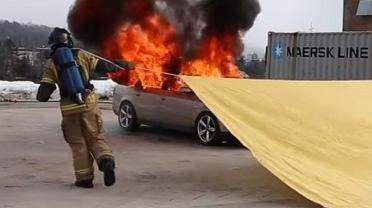 Koc gaśniczy dla samochodu