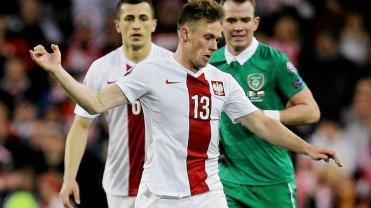 Maciej Rybus w meczu z Irlandią