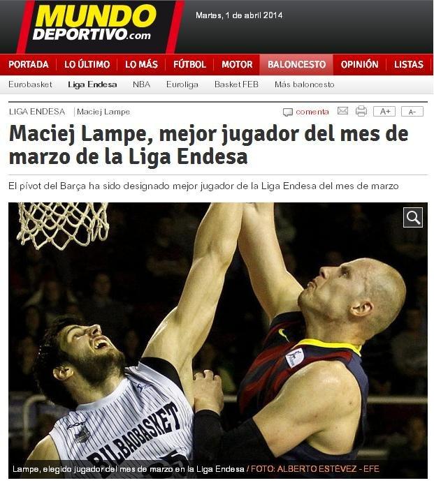 Maciej Lampe w 'El Mundo Deportivo'