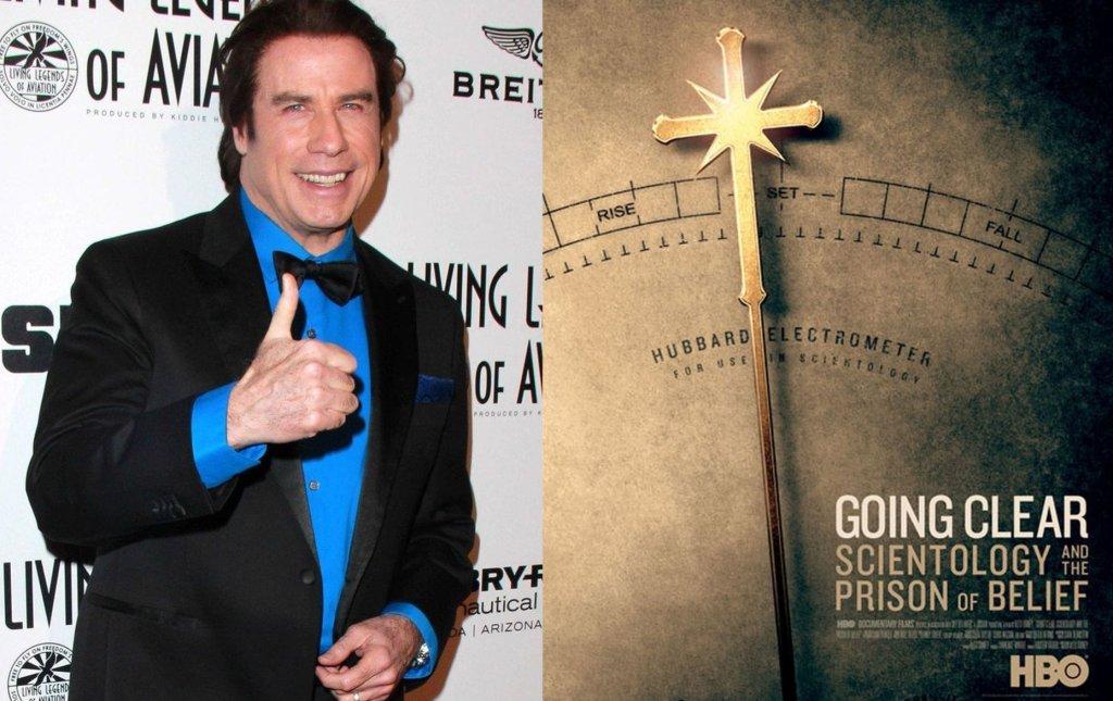 John Travolta/plakat 'Going Clear'