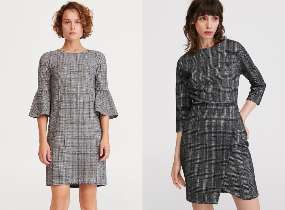 Sukienka w kratę - modele o prostym fasonie
