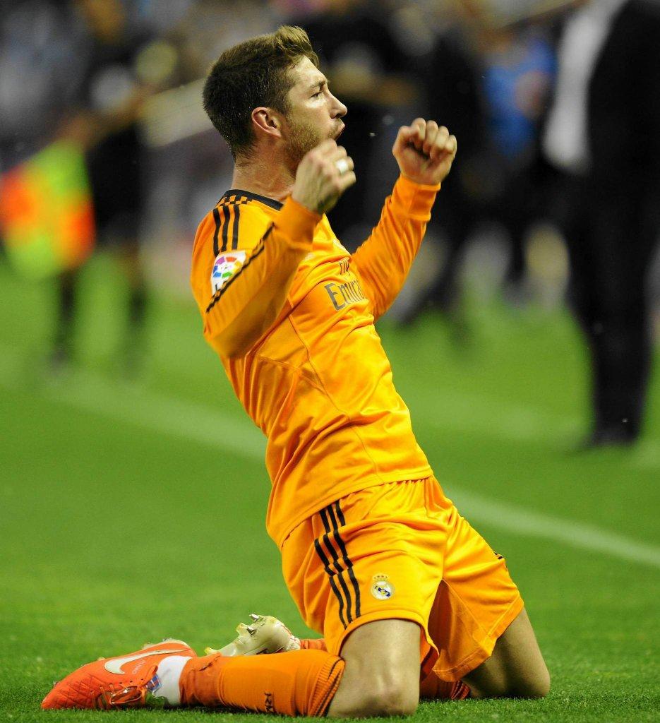Sergio Ramos po zdobyciu gola