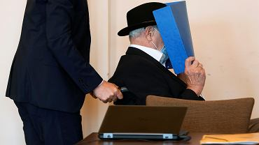 93-letni Bruno D. podczas ogłoszenia wyroku. Były strażnik nazistowskiego obozu Stutthof skazany na dwa lata więzienia w zawieszeniu.