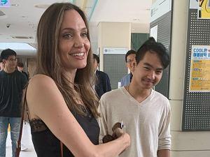 Angelina Jolie na uniwersytecie w Korei
