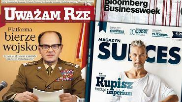 """Okładki """"Uważam Rze"""", """"Bloomberg BusinessWeek Polska"""" i """"Sukcesu"""""""